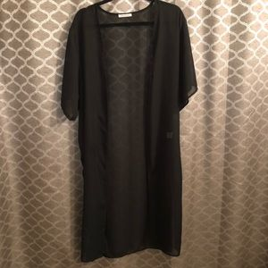 Sweaters - Black Coverup Duster